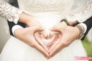 72 Frases para felicitar y celebrar bodas con los Novios