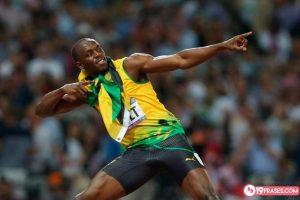 19 Frases de Usain Bolt acerca del éxito en los deportes